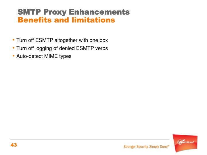 SMTP Proxy Enhancements