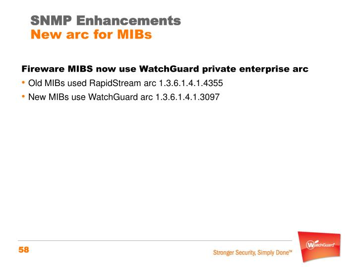 SNMP Enhancements