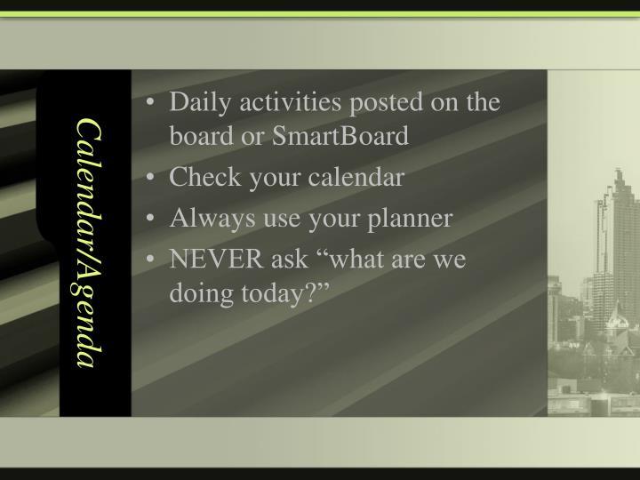 Calendar/Agenda
