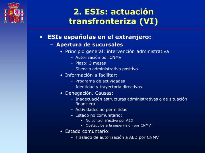 2. ESIs: actuación transfronteriza (VI)