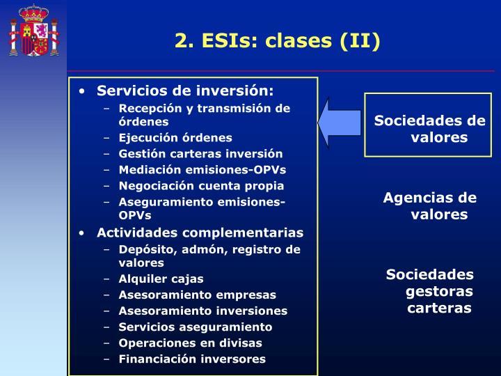 Servicios de inversión: