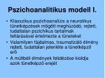 pszichoanalitikus modell i