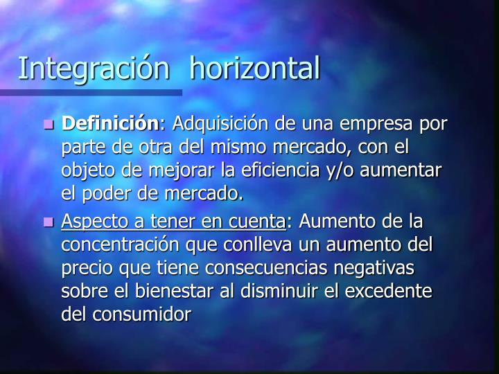 Integraci n horizontal