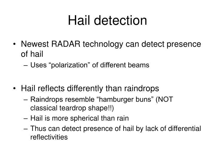 Hail detection