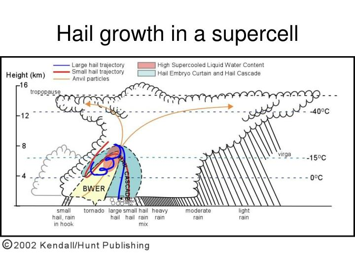 Hail growth in a supercell