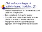 claimed advantages of activity based modeling 3