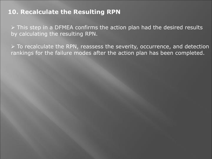 10. Recalculate the Resulting RPN