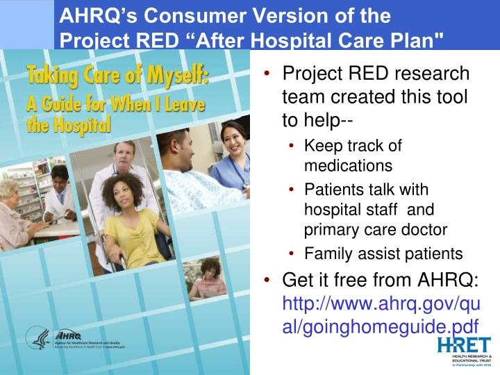 AHRQ's Consumer Version of the
