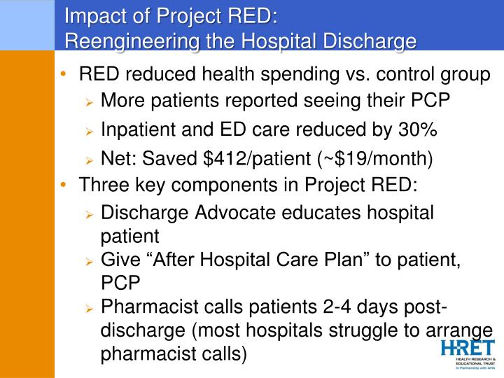 Impact of Project RED: