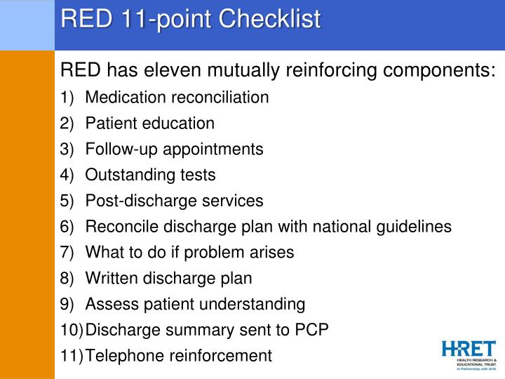 RED 11-point Checklist
