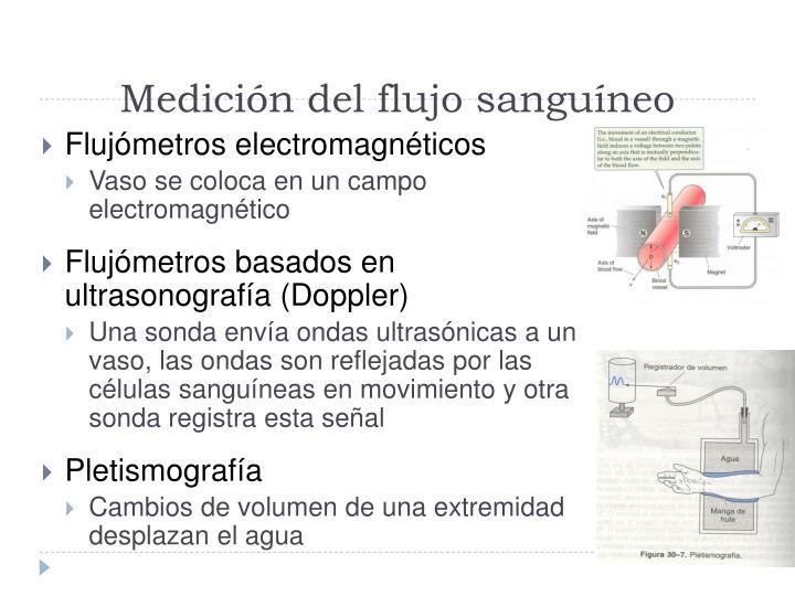 Medición del flujo sanguíneo