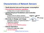 characteristics of network sensors