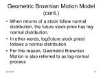 geometric brownian motion model cont