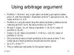 using arbitrage argument