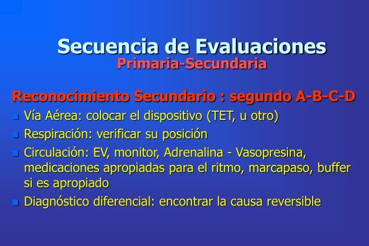 Secuencia de Evaluaciones