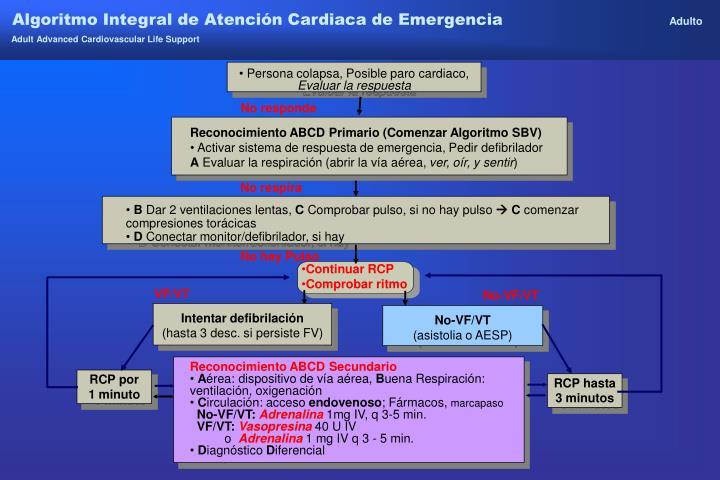 Algoritmo Integral de Atención Cardiaca de Emergencia