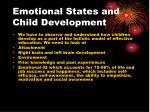 emotional states and child development