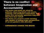 there is no conflict between imagination and accountability