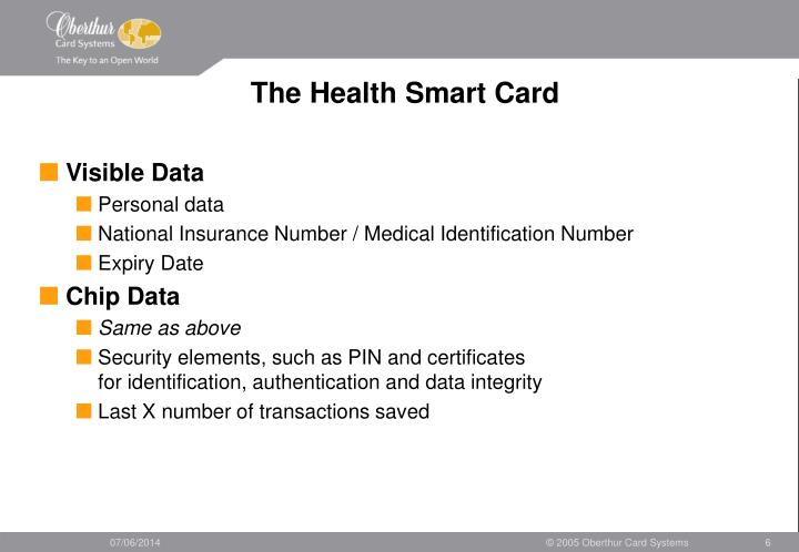The Health Smart Card