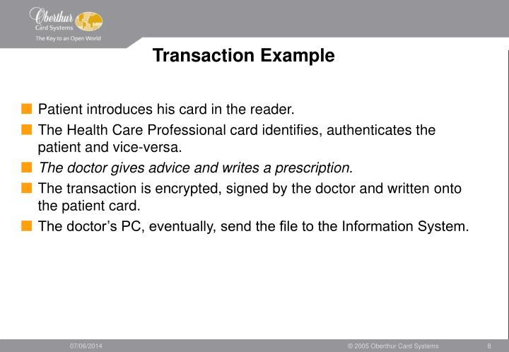 Transaction Example