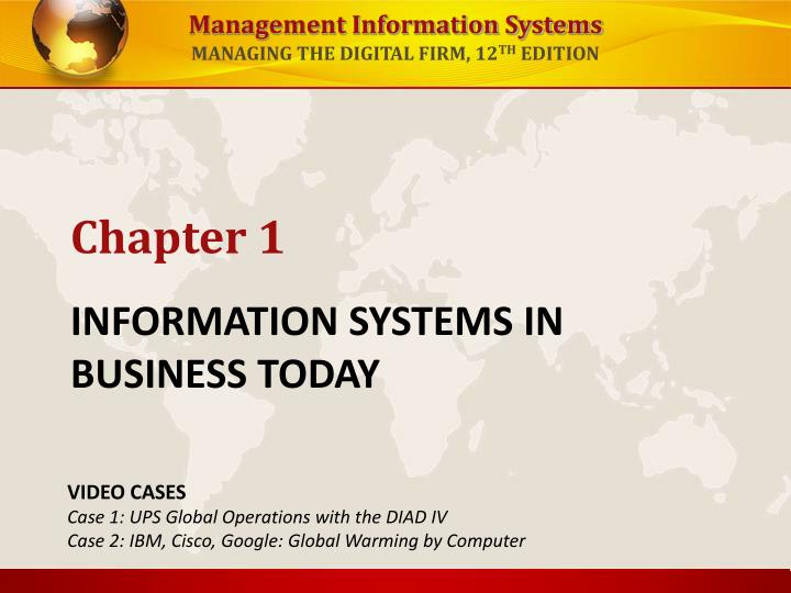 information systems in business today n.