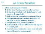 2 a revenue recognition