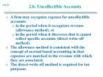 2 b uncollectible accounts