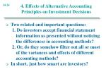 4 effects of alternative accounting principles on investment decisions