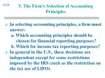 5 the firm s selection of accounting principles