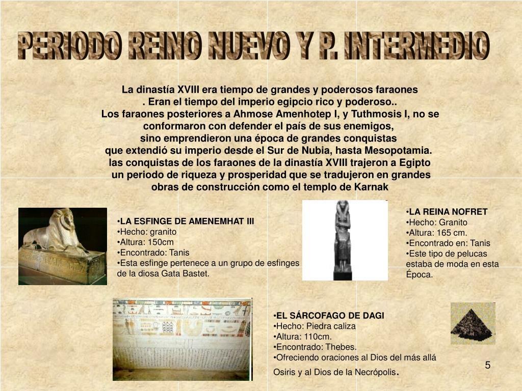PERIODO REINO NUEVO Y P. INTERMEDIO