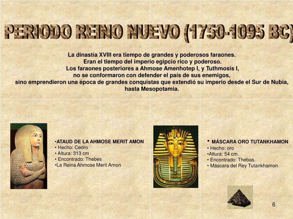PERIODO REINO NUEVO (1750-1095 BC)