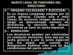 marco legal de funciones del directorio