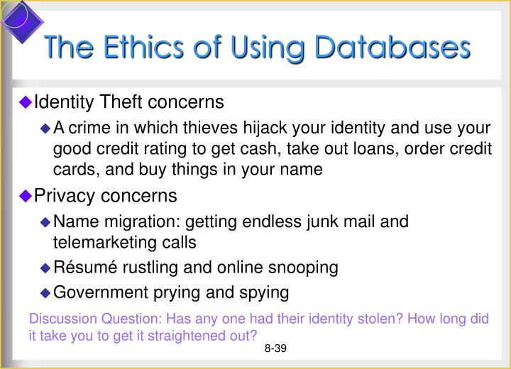 The Ethics of Using Databases
