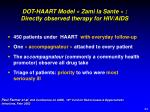 dot haart model zami la sante directly observed therapy for hiv aids