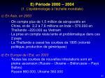 e p riode 2000 2004 1 l pid miologie l chelle mondiale2