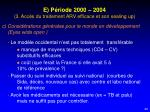 e p riode 2000 2004 3 acc s du traitement arv efficace et son sealing up