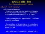 e p riode 2000 2004 3 limite du traitement arv efficace