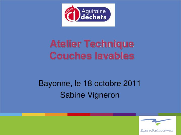 atelier technique couches lavables n.
