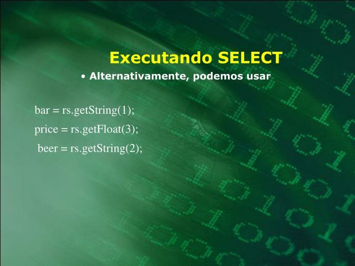Executando SELECT