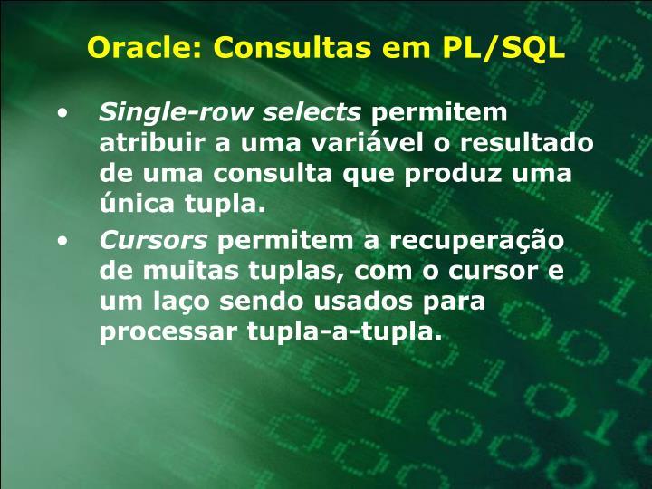 Oracle: Consultas em PL/SQL