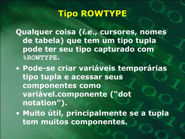 Tipo ROWTYPE