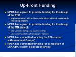 up front funding