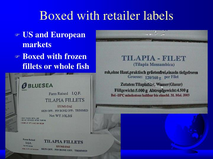 Boxed with retailer labels