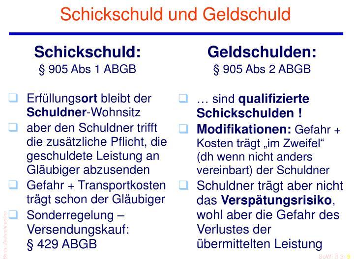 Schickschuld: