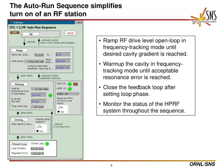 The Auto-Run Sequence simplifies