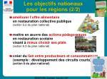 les objectifs nationaux pour les r gions 2 2