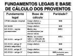 fundamentos legais e base de c lculo dos proventos