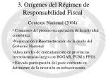3 or genes del r gimen de responsabilidad fiscal