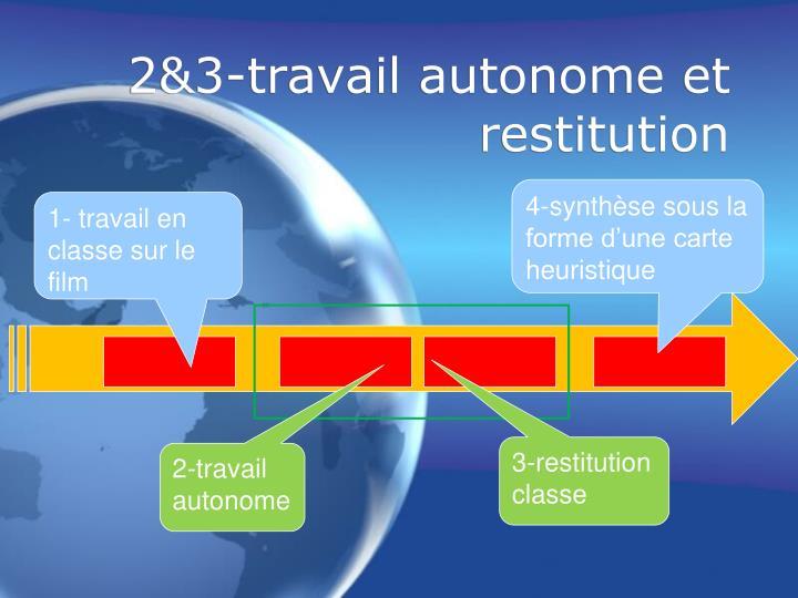 2&3-travail autonome et restitution