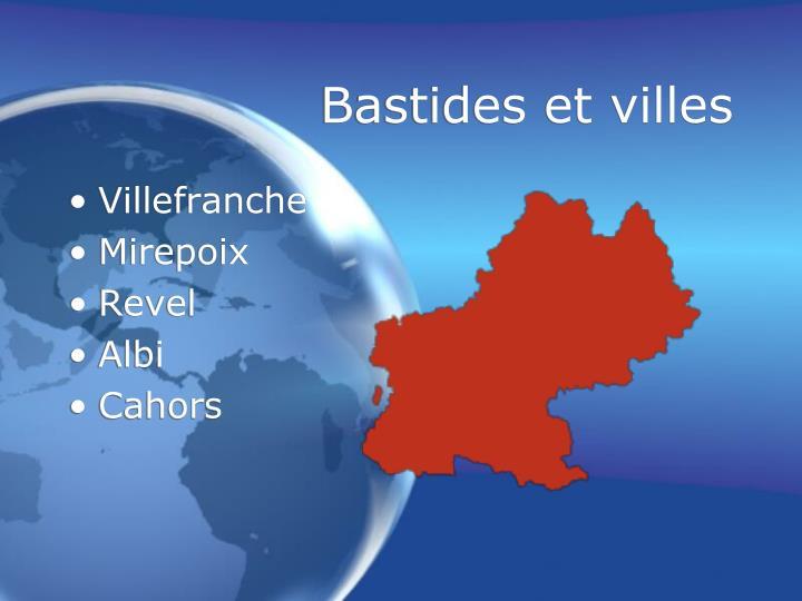 Bastides et villes